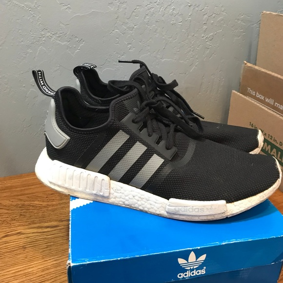 new concept 7cd44 ce62c NMD R1 Black/White S31504 Size 12